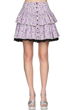 Marc Jacobs Ruffled Poplin Mini Skirt