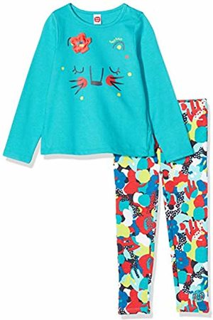 Tuc Tuc Printed Jersey T-Shirt and Leggings Set for Girl Crazy Tiger