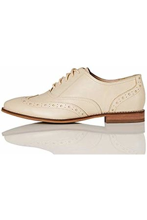 FIND Leather Brogues, Off- (Bone)