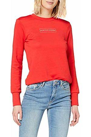 Scotch&Soda Maison Women's Club Nomade Crew Neck Sweat with Chest Print Sweatshirt