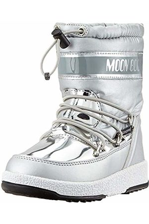 Moon-boot Moon Boot Jr Girl Soft Wp, Snow Boots, Unisex Kids', (Argento 003)