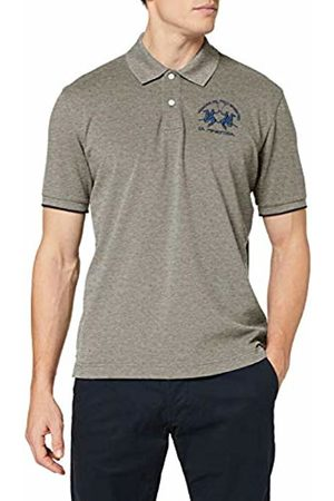La Martina Men's Man Polo S/s Piquet Str Shirt, (Medium Heather 01002)