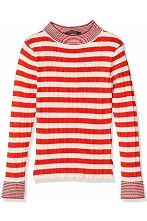 Scotch&Soda Girl's Turtle Neck in Knitted Rib with Details Cardigan