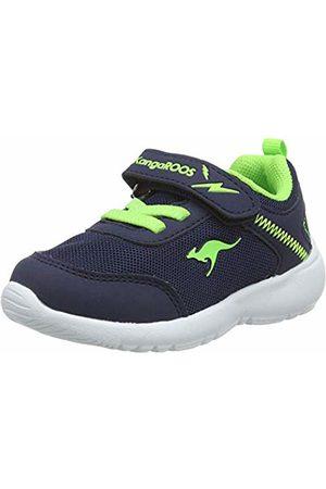 KangaROOS Unisex Babies' Kc-Flight Ev Low-Top Sneakers, (Dk Navy/Lime 4054)