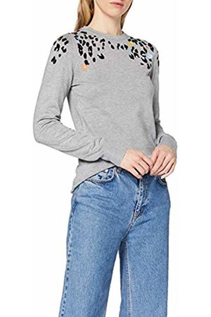 warehouse Women Sweatshirts - Women's Flower Animal Embroidered Jumper Sweater