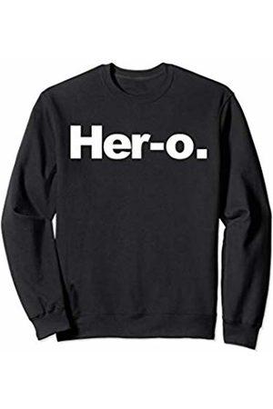 Miftees Her-o novelty Female Superhero Sweatshirt