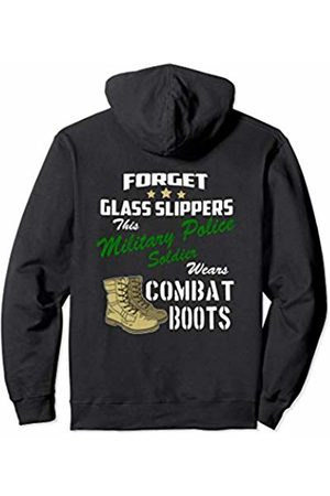 Military Police Gifts by DBA.dezines Forget Glass Slippers this MP wears Combat Boots Ladies MP Pullover Hoodie