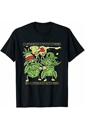 BCC Weed Smoking Shirts Marijuana Stoner Gifts A Friend With Weed Is the Best Indeed Matching Stoner Couple T-Shirt