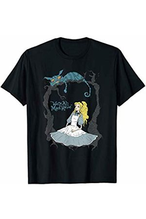 Crazy Fun Designs Gifts - Alice Alice In Wonderland Cheshire - We're All Mad Here T-Shirt