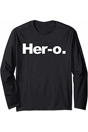 Miftees Her-o novelty Female Superhero Long Sleeve T-Shirt