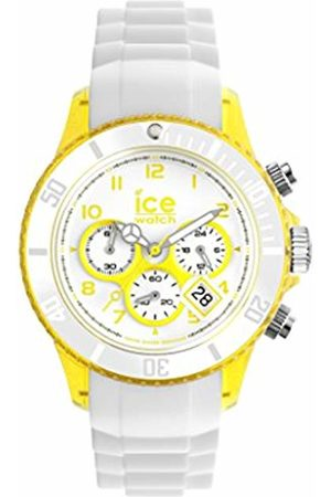 Ice-Watch Watches - Chrono Party Unisex Quartz Watch with White Dial Time Teacher Display and White Silicone Bracelet CH.WYW.U.S.13