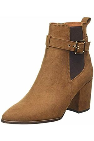 Dorothy Perkins Women's Alma Buckle Heeled Jeans Boot Ankle, (Tan 500)