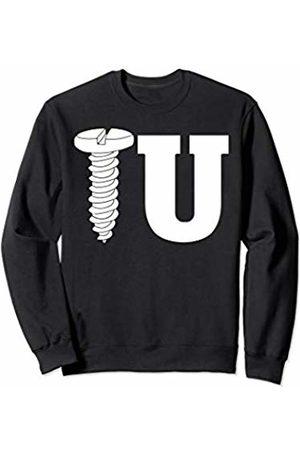 Miftees Screw U funny Construction Worker Handyman adult humor Sweatshirt