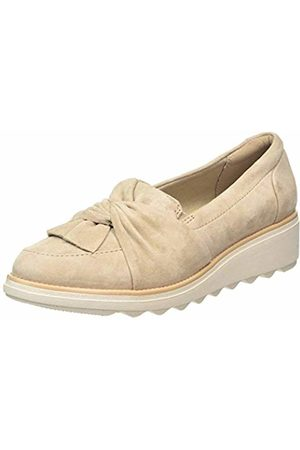 Clarks Women's Sharon Dasher Loafers, (Sand Suede Sand Suede)