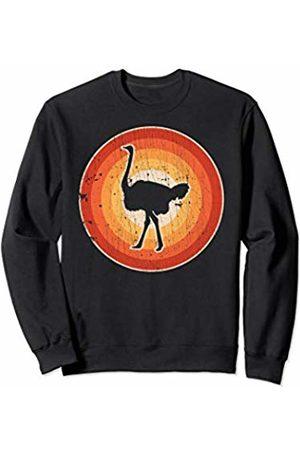 Emusing Ostrich Squad Co Ostrich Retro Vintage 60s 70s Men Women Gifts Bird Lover Sweatshirt