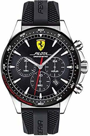 Scuderia Ferrari Mens Chronograph Quartz Watch with Silicone Strap 0830620