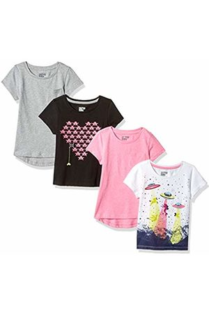 Spotted Zebra 4-pack Short-sleeve T-shirts Video UFO, X-Small (4-5)