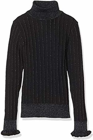 Scotch & Soda Girl's Turtle Neck in Knitted Rib with Details Cardigan