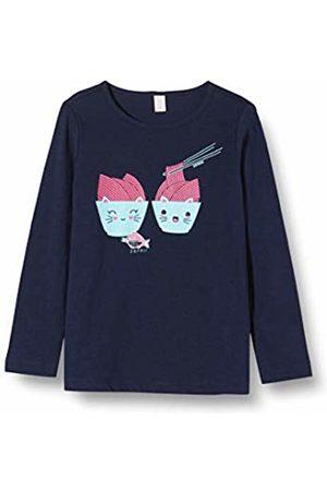 Esprit Kids Girl's Rq1000312 T-Shirt Ls Long Sleeve Top, (Midnight 485)