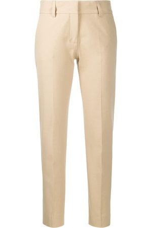 PIAZZA SEMPIONE Slim-fit cropped trousers - Neutrals