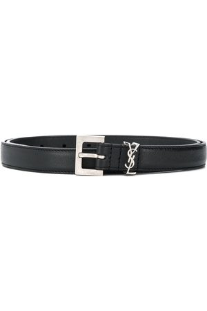 Saint Laurent Monogram plaque belt