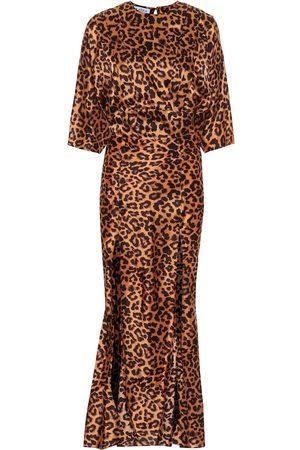 The Attico Leopard-print crêpe maxi dress