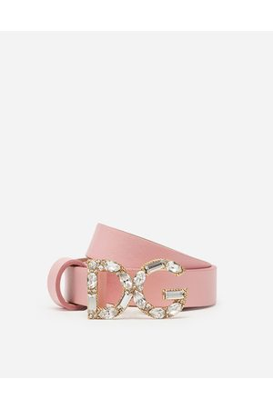 Dolce & Gabbana Girls Belts - Accessories - NAPPA LEATHER BELT WITH DG BUCKLE female S