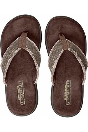 Skechers Men's 65091 Open Toe Sandals, (Chocolate)