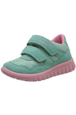 Superfit Girls' Sport7 Mini Low-Top Sneakers, (Grün/Rosa 71)