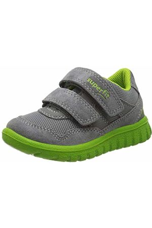 Superfit Boys' Sport7 Mini Low-Top Sneakers, (Hellgrau/Grün 25)