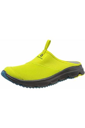 Salomon Men's Recovery Shoes, RX SLIDE 4.0, Colour: Green (Evening Primrose/Ebony/Fjord )