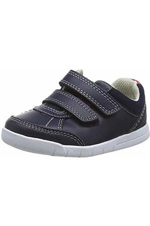 Clarks Boys' Emery Sky T Low-Top Sneakers, (Navy Leather Navy Leather)