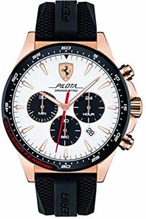Scuderia Ferrari Mens Chronograph Quartz Watch with Silicone Strap 0830597