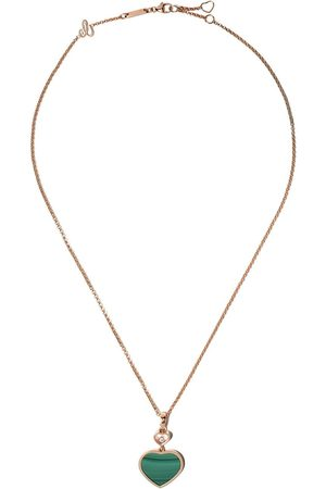 Chopard 18kt rose diamond Happy Hearts necklace