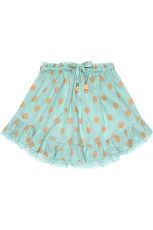 ZIMMERMANN Kirra polka-dot cotton skirt