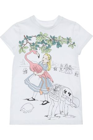 SCRAMBLED-EGO Alice In Wonderland Print Jersey T-shirt