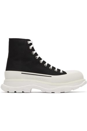 Alexander McQueen Men Trainers - Tread Slick High-top Chunky-sole Canvas Trainers - Mens