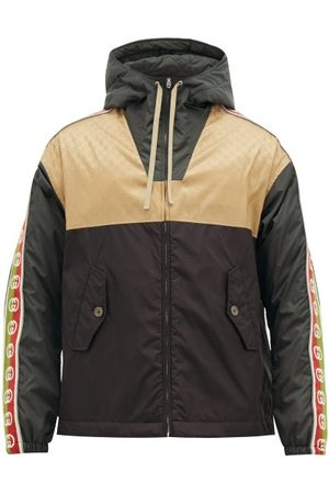 Gucci Men Jackets - GG-jacquard Shell Hooded Jacket - Mens