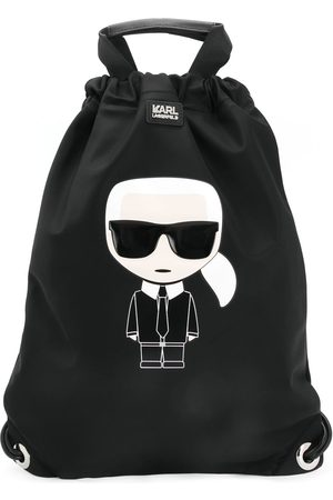Karl Lagerfeld Ikonik Karl print backpack