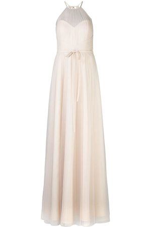 Marchesa Notte Halterneck tulle bridesmaid gown