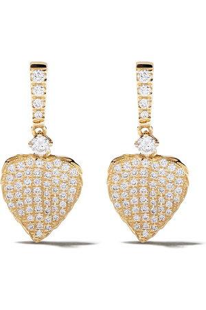 Kiki Mcdonough Women Earrings - 18kt Lauren diamond pave mini leaf earrings
