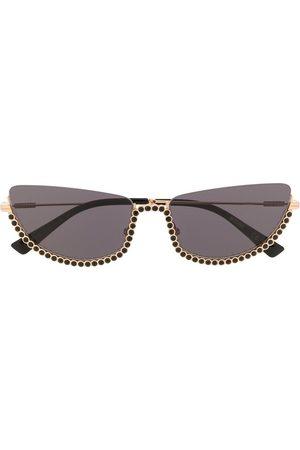Moschino Cat eye embellished-trim sunglasses