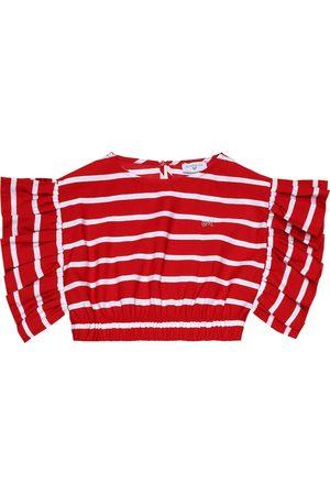 MONNALISA Striped crop top