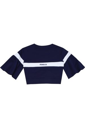 MONNALISA Cotton-blend jersey sweatshirt
