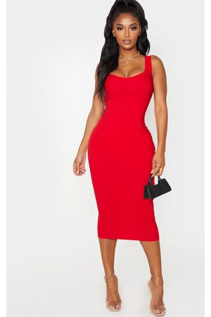 PRETTYLITTLETHING Shape Cup Detail Strappy Midi Dress