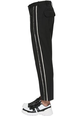 Neil Barrett Men Trousers - Striped Stretch Cotton Canvas Pants