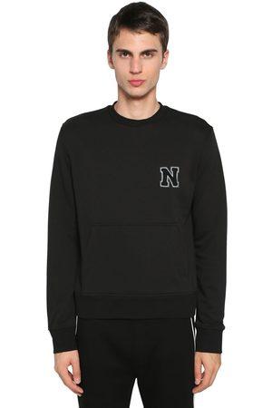 Neil Barrett Logo Patch Cotton Blend Jersey Sweater