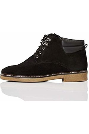 FIND Lace Up Leather Gumsole Ankle Boots, )