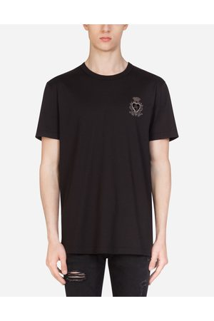 Dolce & Gabbana Collection - COTTON T-SHIRT WITH HERALDIC PATCH