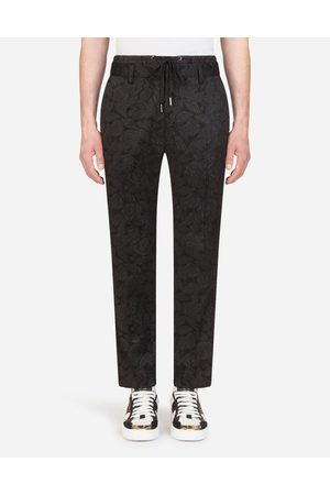 Dolce & Gabbana Trousers and Shorts - FLORAL STRETCH JACQUARD JOGGING PANTS
